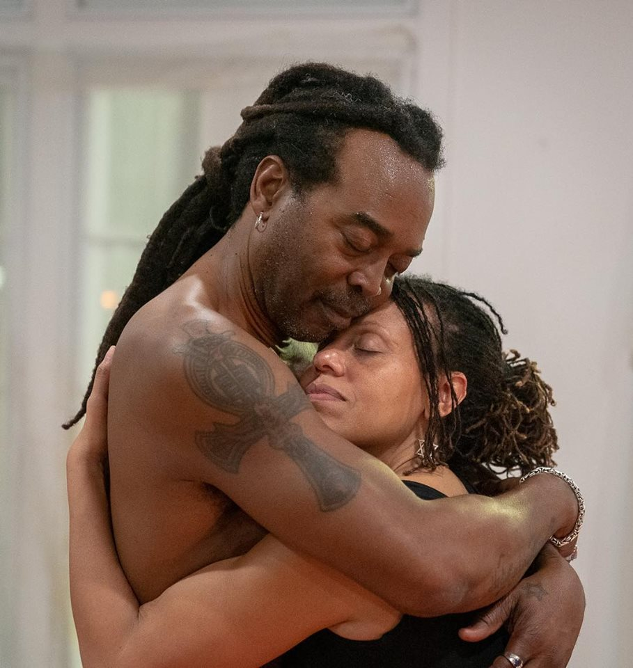 this photo depicts the healing nature of one of Ajax Jackson's yoga classes