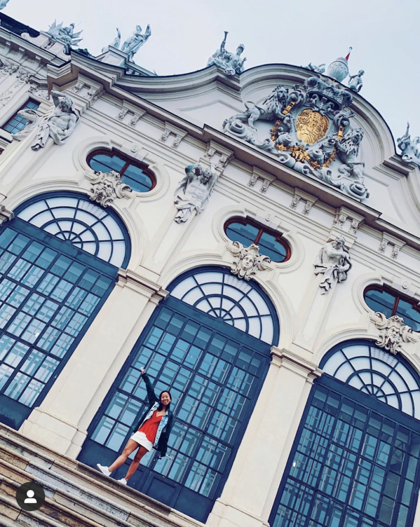 this photo shows the beauty of Viennese architecture