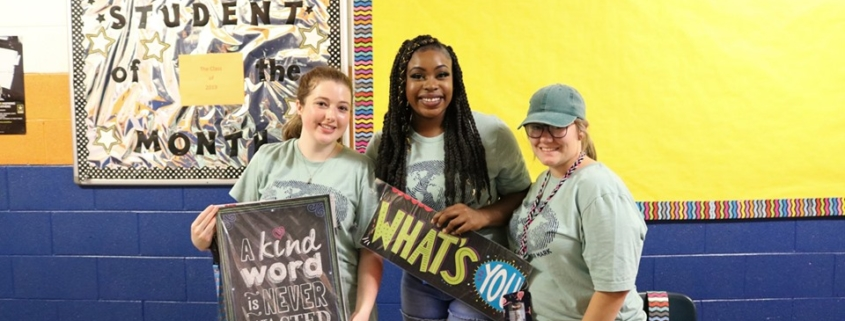 this photo helps illustrate the youth and energy of the Marion Matters volunteers