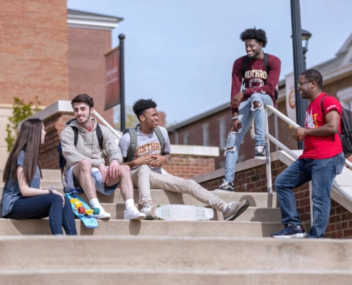 this photo shows the diversity of the Winthrop campus
