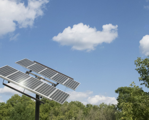this photo shows one of the ways Penn State will work to reduce greenhouse gas emissions