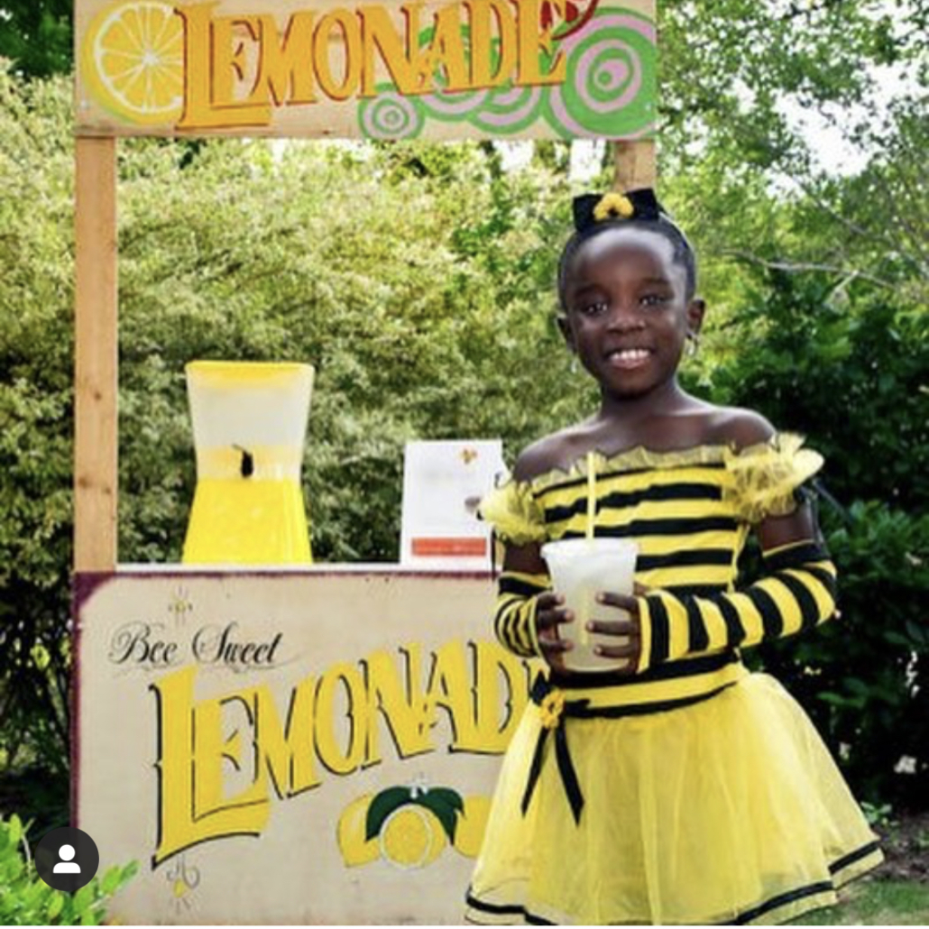 here we see the founder of Me & the Bees Lemonade when she was a little older