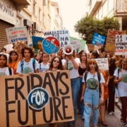 this photo illustrates the global movement of youths fighting climate change