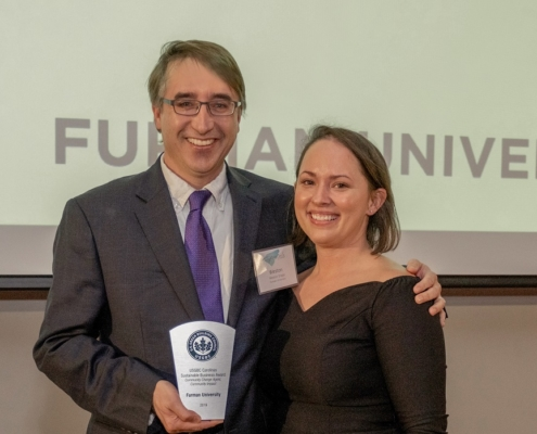 this photo shows the recipient of a major award for green buildings on college campuses