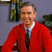this photo shows the kindness of the real Mister Rogers