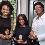 this photo depicts three winners of the Algernon Sydney Sullivan Award at Duke University