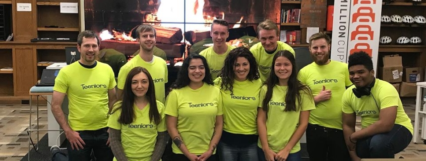 this photo shows the Teeniors staff