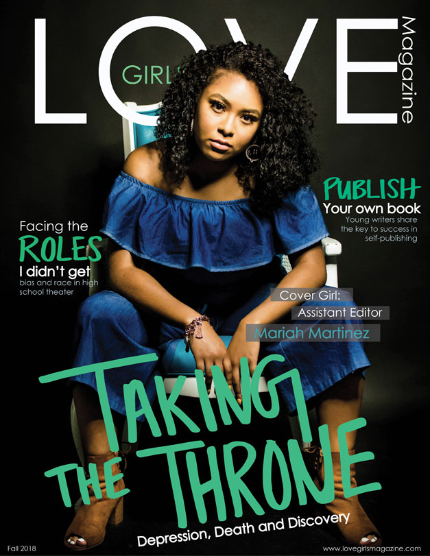 this is a cover designed by Jasmine Babers for Love Girls magazine