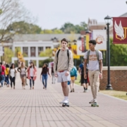 this is a photo illustrating record freshman enrollment at Winthrop University