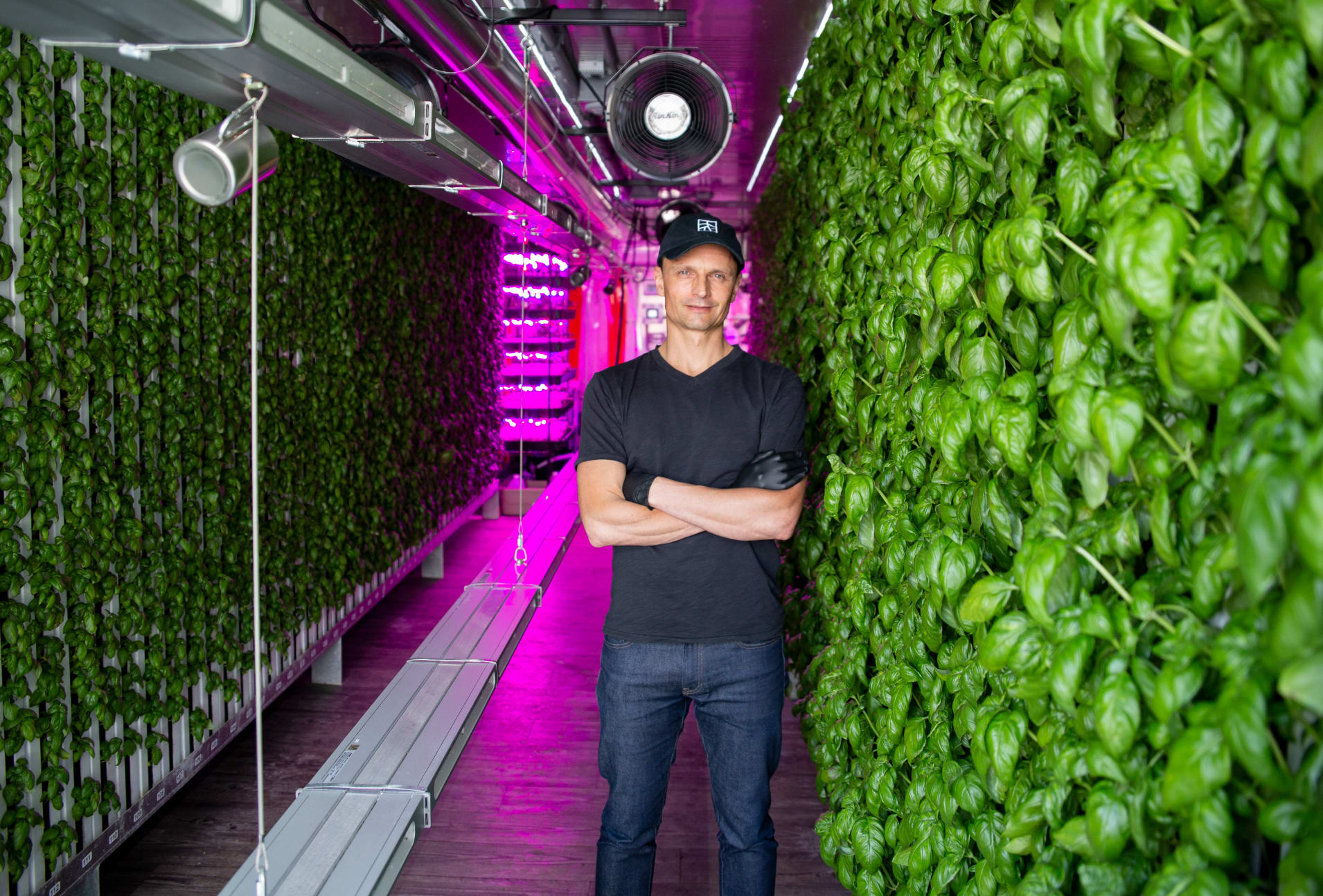 this photo shows Tobias Peggs, who cofounded Square Roots with Kimbal Musk