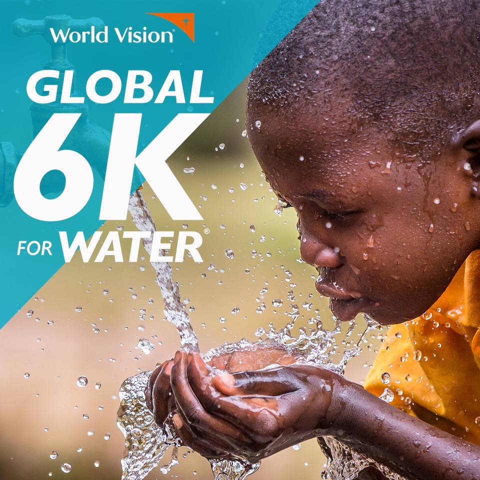 this is a photo illustrating the World Vision Global 6K for Water