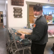 photo of a carson-newman university student volunteering for Appalachian Outreach