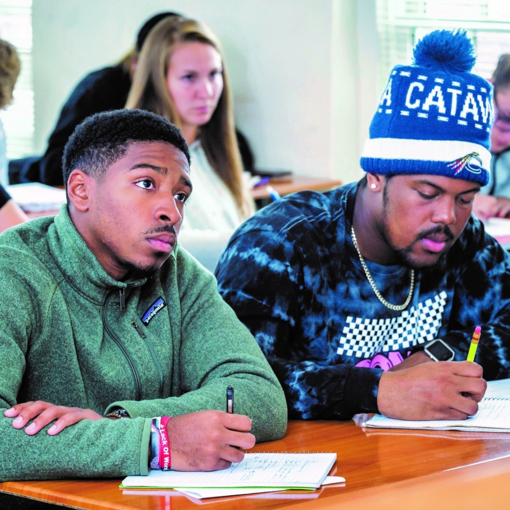 photo of students taking free classes at Catawba College