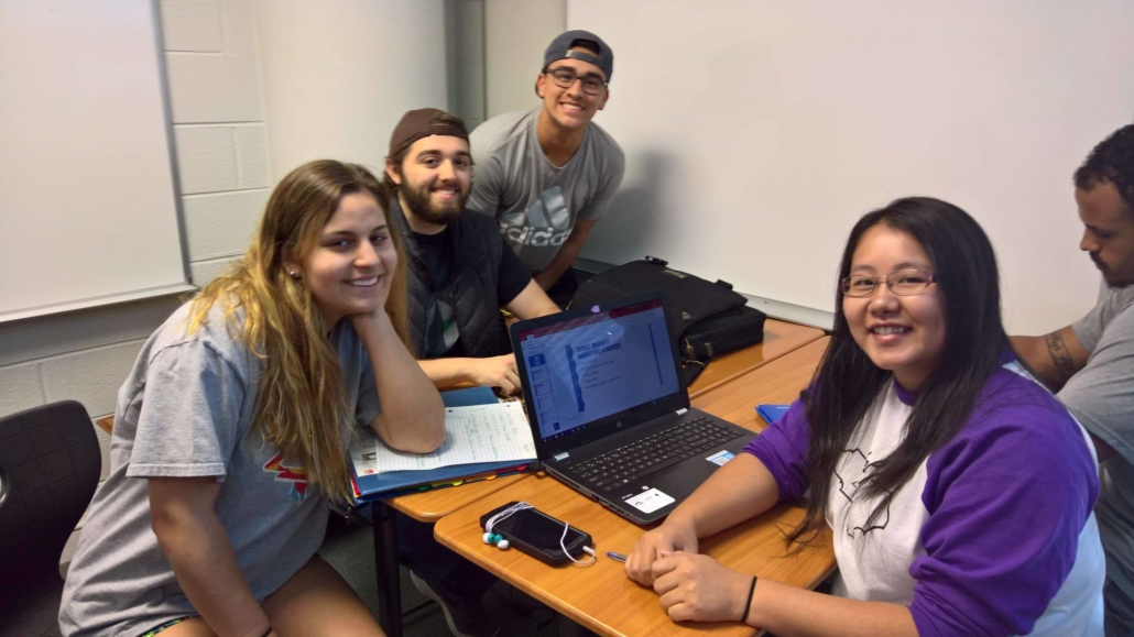 this photo shows students who might qualify for tuition-free classes at Catawba College
