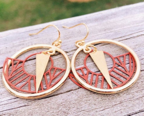 photo of the Dare to Dream earrings which will raise money for a social enterprise dedicated to promoting menstrual equity