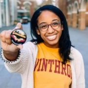 photo of first-generation college student Imani Belton, winner of the Mary Mildred Sullivan Award at Winthrop University