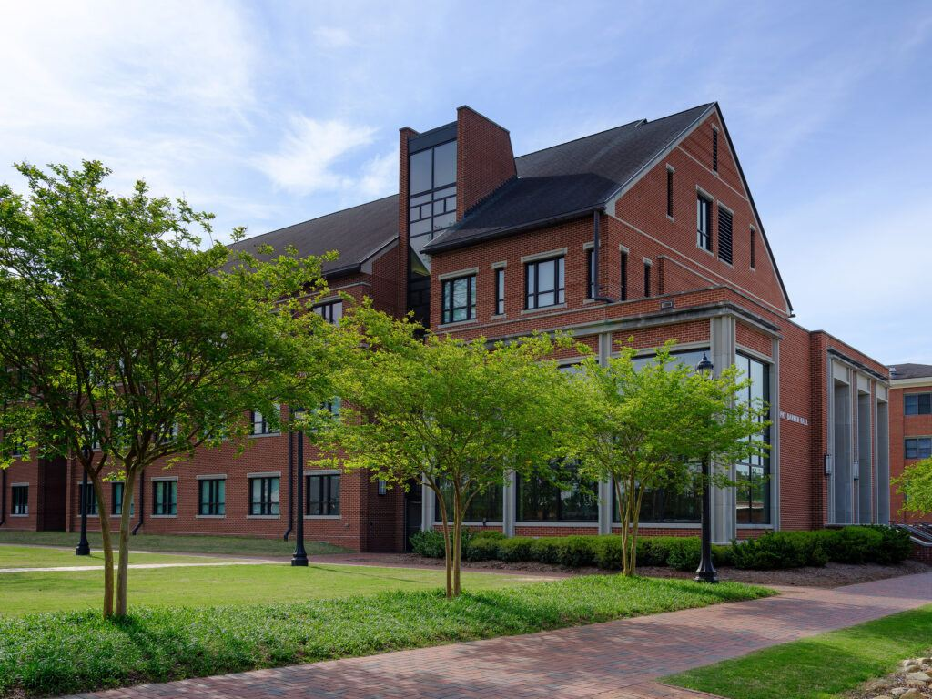 photo of a Campbell University residence hall where all students will get private rooms for the fall 2020 semester