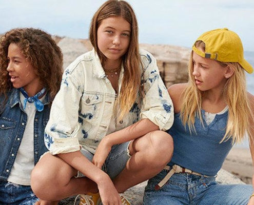 a photo of the Gap Teen line of sustainable fashion items