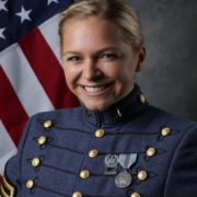 photo of Algernon Sydney Sullivan Award winner Olivia Jones in full military regalia at The Citadel