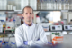 photo of Robin Shattock in his laboratory, a UK scientist leading a team that has developed a COVID-19 vaccine