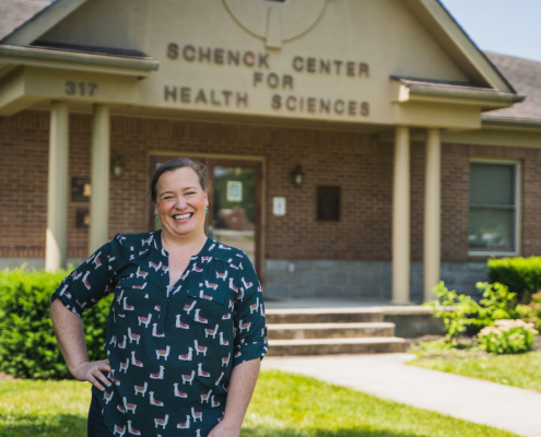 photo of Bonnie Price, a faculty member of Lincoln-Memorial University and an expert on rabies and bats