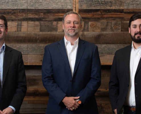 this is a photo of the founders of VentureSouth, including Paul Clark, Matt Dunbar and Charlie Banks