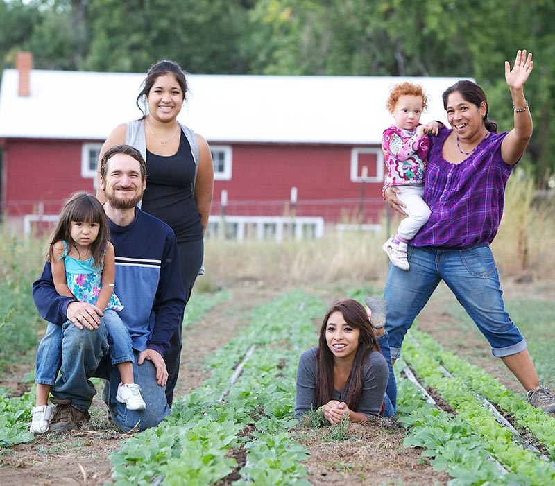 this photo shows the family that owns Ollin Farms, a recipient of a SOIL group loan connected to the Slow Money Institute and Beetcoin.