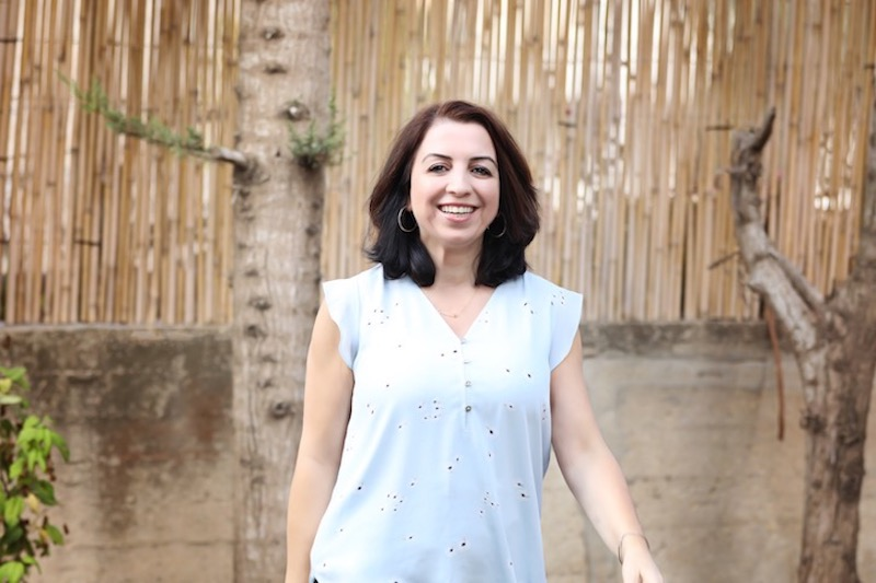 This photo shows Fakhira Halloun on a stroll in Israel, where she works as a peacemaker