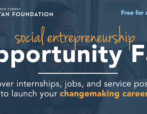 this is a graphic for the Social Entrepreneurship Opportunity Job Fair