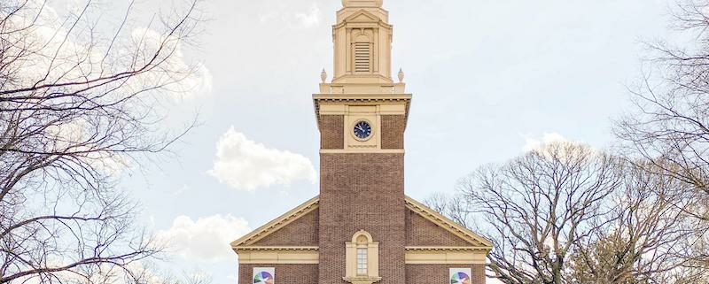 this photo shows Myers Park Baptist Church, which works to address racism in white churches as part of a Davidson College project.