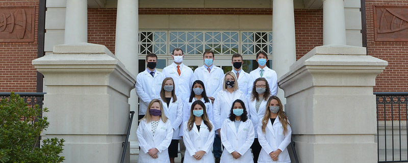 this photo shows a group of students in Auburn's Rural Medicine Program