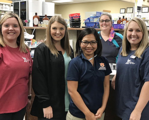 this photo shows a group of Auburn students who are working to save rural pharmacies in the southeastern U.S.