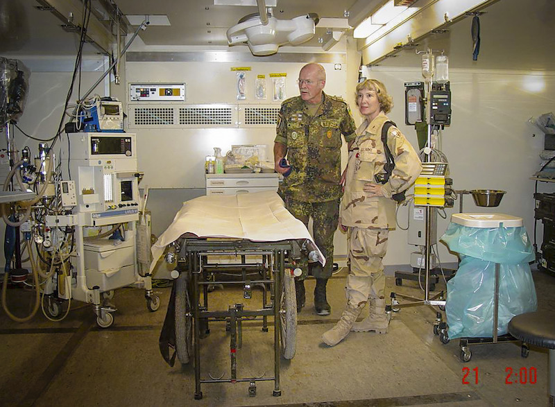 this photo shows Col. Elizabeth Steadman in a German field hospital in Kabul during the Afghanistan war
