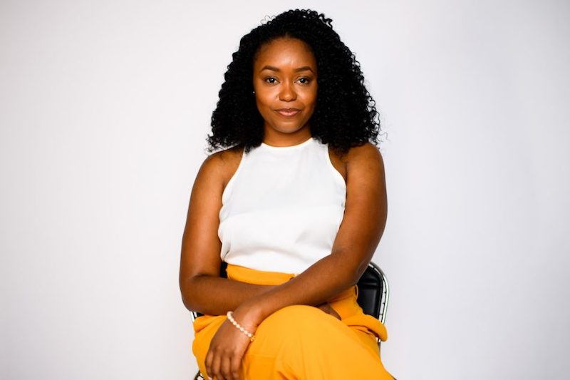 this is a photo of Danielle Deavens, co-founder of Bold Xchange and a social entrepreneur who helps black-owned businesses