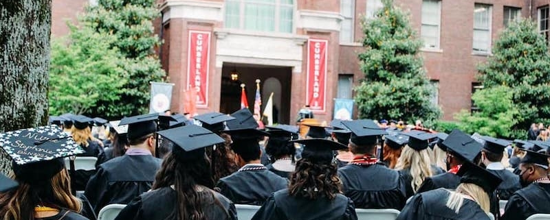 this photo shows students graduating from Cumberland University, which now offers the Phoenix Program for tuition-free college