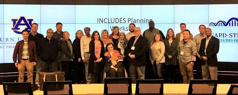 this photo shows a group of Auburn University faculty dedicated to improving STEM education opportunities for people with disabilities
