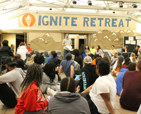 This photo shows Spud Marshall leading a session for the Sullivan Foundation's Ignite Retreat for changemakers